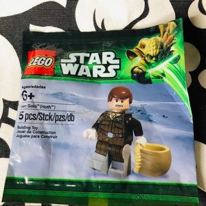 5 for $25| Lego Han Solo Hoth Star Wars Minifigure